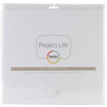 Project Life Photo Pocket Pages 12/Pkg-Design F