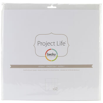 Project Life Photo Pocket Pages 12/Pkg-Design F