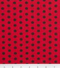 Keepsake Calico Cotton Fabric 43\u0027\u0027-Black Zest Dot on Red