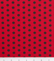 Keepsake Calico Cotton Fabric -Black Zest Dot on Red, , hi-res