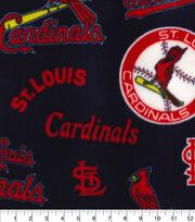 St. Louis Cardinals Fleece Fabric-Cooperstown, , hi-res
