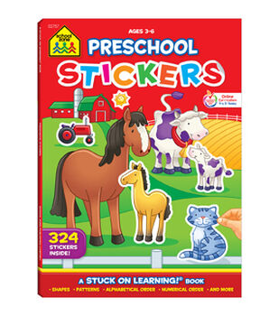 Sticker Workbook-Get Ready For School Grades P-K