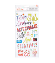 American Crafts Thicker Stickers-Wild Child, , hi-res