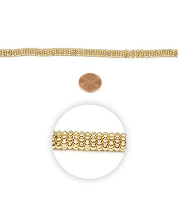 Strand Metal Daisy 6Mm Gold