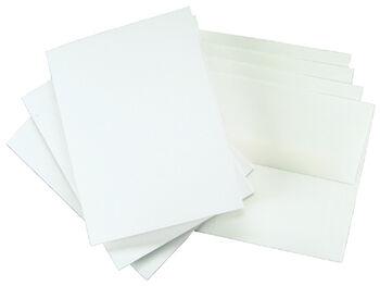 "4""x5-3/4"" Greeting Cards & Envelopes-25PK/White"