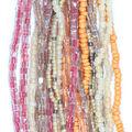 hildie & jo Glass Multi Strand Seed Strung Beads-Orange