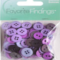 Favorite Findings 130 pk Round Buttons-Purple