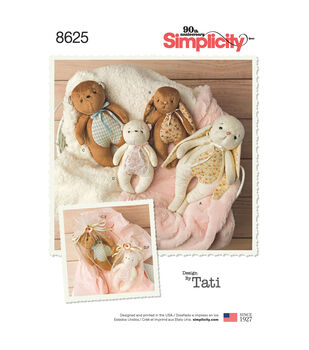Simplicity Pattern 8625 Stuffed Animals & Gift Bags