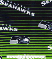 Seattle Seahawks Fleece Fabric -Linear, , hi-res