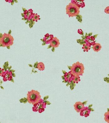 """Sportswear Stretch Corduroy Fabric 55""""-Cream Floral"""