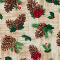 Christmas Cotton Fabric-Be Merry Pinecones