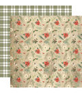 Christmas Double-Sided Cardstock 12\u0022X12\u0022-Winter Floral