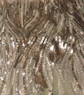 All That Glitters Linear Deco Sequin Mesh Fabric-Silver