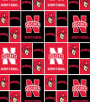 University of Nebraska Cornhuskers Cotton Fabric 43''-Block, , hi-res