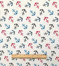 Doodles Juvenile Apparel Fabric -Anchors Interlock