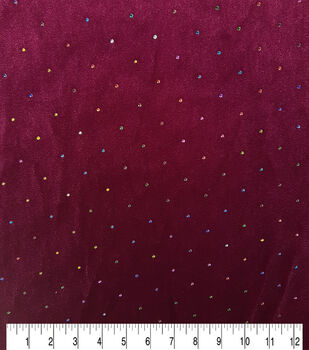Sew Sweet Velvet Fabric-Multi Dew Drop Red Plum