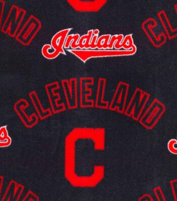 Cleveland Indians Fleece Fabric -New Block C