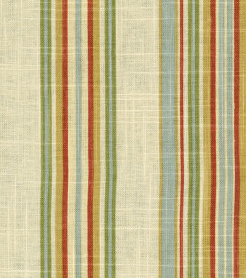 "Waverly Multi-Purpose Decor Fabric 55""-Stripe Ensemble Robin's Egg"