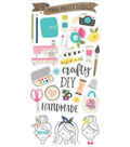 Simple Stories Crafty Girl 31 pk Chipboard Stickers