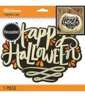 Jolee\u0027s Boutique Pumpkin Cling Sticker-Happy Halloween