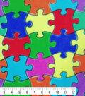 Fleece Fabric -Jigsaw Puzzle