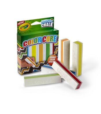 Crayola Color Core Washable Sidewalk Chalk 5/Pkg