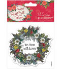 Papermania Pocket Full Of Posies Clear Stamps-Wreath