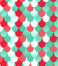 Snuggle Flannel Fabric 42\u0027\u0027-Coral Mermaid Scales