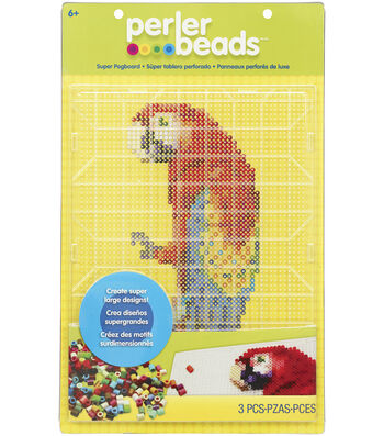 "Perler Fun Fusion Bead Super Pegboard 1/Pkg-Clear-10.5""X14"""