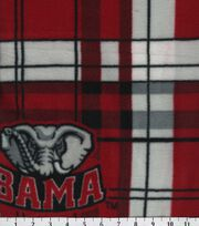 "University of Alabama Crimson Tide Fleece Fabric 58""-Plaid, , hi-res"