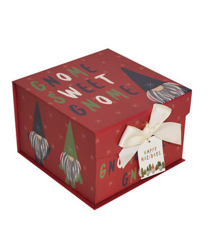 makers holiday christmas medium mini fliptop storage box gnome