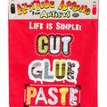 Attitude Artist Apron Red-Cut, Glue, Paste