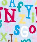 Snuggle Flannel Fabric -Baby Alphabet