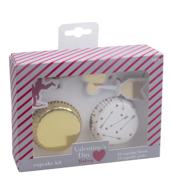 Valentine's Day Baking Cupcake Kit-Gold Foil