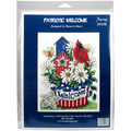 Imaginating Counted Cross Stitch Kit-Patriotic Welcome
