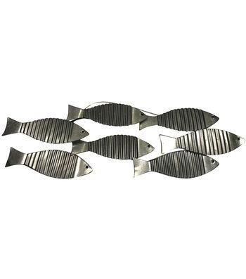 Indigo Mist Metal Fish Wall Décor