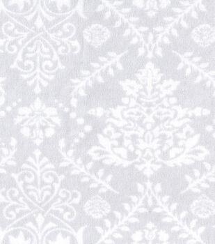 Snuggle Flannel Fabric -Mint Damask