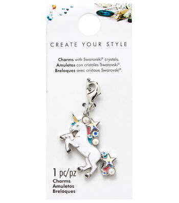 Swarovski Create Your Style Unicorn Charm-Multi Crystals