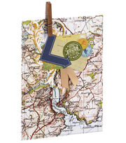 Anna Griffin Map Treat Bag 4 Count, , hi-res