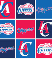 Los Angeles Clippers Fleece Fabric -Block, , hi-res
