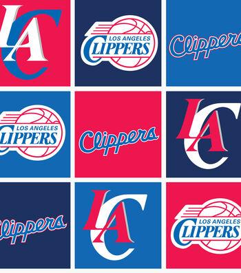 Los Angeles Clippers Fleece Fabric -Block