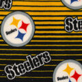Pittsburgh Steelers Fleece Fabric -Linear