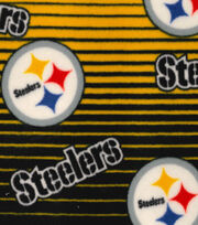 Pittsburgh Steelers Fleece Fabric -Linear, , hi-res