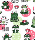 Snuggle Flannel Fabric-Happy Leap Frog