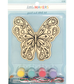 Little Makers Paint Stitch Kit-Butterfly