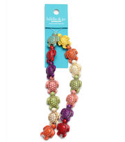 hildie & jo Reconstituted Stone Turtle Strung Beads-Multi, , hi-res
