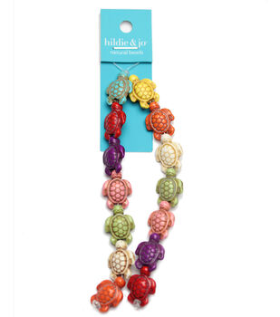 675372287 hildie & jo Reconstituted Stone Turtle Strung Beads-Multi