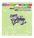 Stampendous Cling Rubber Stamp 3.5\u0022X4\u0022 Sheet-Penned Birthday