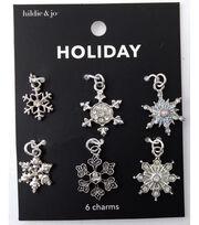 hildie & jo Holiday Charms-Silver Snowflake, , hi-res