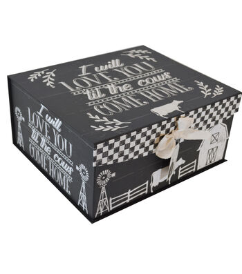 Organizing Essentials Large Fliptop Storage Box-Country Thoughts